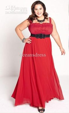 Wholesale Evening Dress - Buy Plus Size 2011 Chiffon Empire Spaghetti Strap Floor Length Ruffled Red Prom/Evening Dress/Gown P-43, $113.64 | DHgate