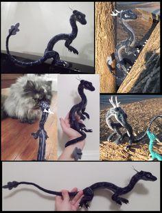 Zephyr collage ~ Needle felted dragon by tallydragon.deviantart.com on @deviantART