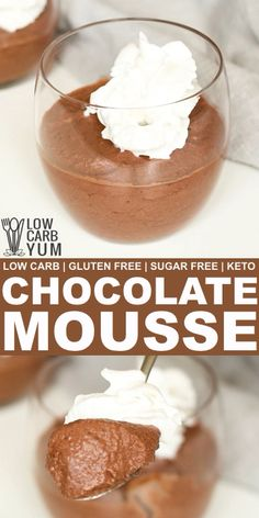 Keto chocolate mousse is a recipe made with everyday ingredients. It's a low carb mousse that whips up quickly to enjoy as a dessert or snack. Keto Desserts, Keto Dessert Easy, Sugar Free Desserts, Chocolate Desserts, Dessert Recipes, Sweets Recipe, Chocolate Chocolate, Best Chocolate Mousse Recipe, Low Carb Chocolate Mousse