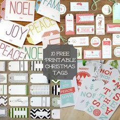 10 Free Printable Christmas Tags