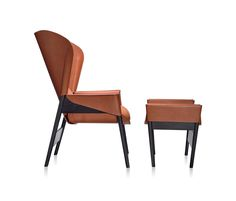 Heta bergère and pouf by Frag | Lounge chairs