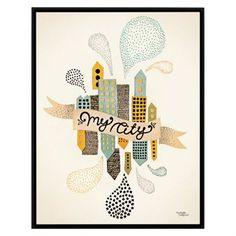 Lámina Michelle Carlslund Illustration pequeño - My City Two - Michelle Carlslund Illustration