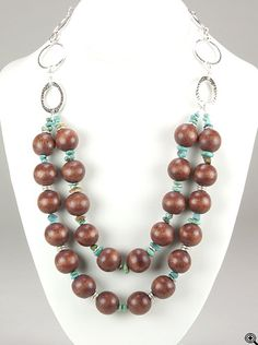 Jewelry Making Idea: Badlands Necklace. Could do in any number of color combos...(eebeads.com)