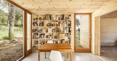 A passive house in Spain composed of six prefabricated wood boxes. It has 3 bedrooms