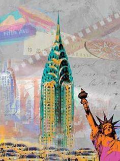 Robin-Jules-New-York-Vintage-Fertig-Bild-40x50