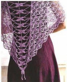 Hobby lavori femminili - ricamo - uncinetto - maglia: scialle