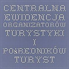 Centralna Ewidencja Organizatorów Turystyki i Pośredników Turystycznych