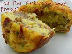 My Favorite Things: Low Fat Turkey Sausage Breakfast Cups