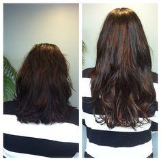 Get longer, natural looking hair at Mermaid Hair Extensions in Kirkland Washington. #Flawless #LongHair #Natural #Extensions #DarkHair  #Kirkland