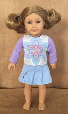 American Girl of Today Doll blonde curly short hair hazel eyes clothing GT21 #AmericanGirl #DollswithClothingAccessories