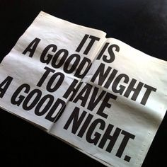 Well then, have a good night!