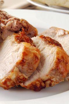 Honey Roasted Pork Loin Crock Pot Recipes, Pork Recipes, Slow Cooker Recipes, Cooking Recipes, Protein Recipes, Health Recipes, Pasta Recipes, Slow Cooker Pork Tenderloin, Gastronomia