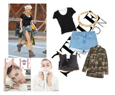 """""""Steal the style - MILEY CYRUS"""" by evelina-hagstrom on Polyvore featuring Vanessa Bruno, Faith Connexion, Dr. Martens and Bling Jewelry"""