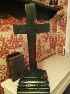 Cross Wood with Antique Base from and by cabinintheheartland, $125.00