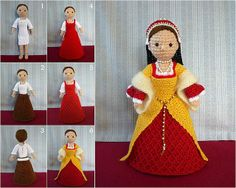 crochet doll -- not a pattern, just somebody's fun project