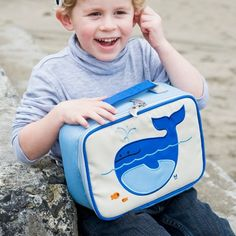 lucas the whale lunch box by beatrix new york