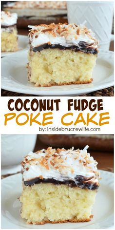 Hot fudge and three times the coconut makes this cake disappear every time I make it!