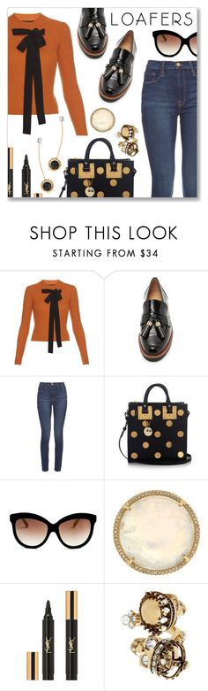 """""""Fall Footwear Trend: Loafers"""" by dressedbyrose on Polyvore featuring Rochas, Stuart Weitzman, Frame Denim, Sophie Hulme, Italia Independent, Irene Neuwirth, Yves Saint Laurent, Alexander McQueen, URiBE and Fall"""