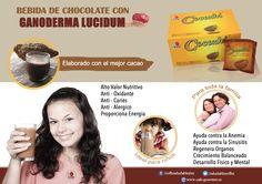 Chocolate con ganoderma de DXN. Para disfrutar con toda la familia