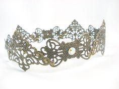 Antique+Brass+Filigree+Small+Medieval+Crown+by+angelyques+on+Etsy,+$65.00