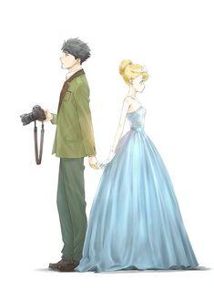 Tada-Kun wa Koi wo Shinai Announces Main Cast, Yuichi Nakamura to Play Titular Character Manga Art, Manga Anime, Anime Art, Koi, Anime Couples, Cute Couples, Monthly Girls' Nozaki Kun, Never Fall In Love, Love Wallpaper