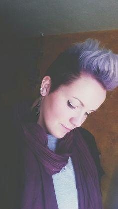Purple to periwinkle ombre pixie cut. #pixie instagram- sydneynoel7