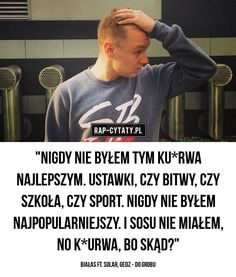 #rapcytatyofficial #rapcytaty #hiphopcytaty #cytaty #rap #hiphop #polskirap #polskihiphop #tylkorap #jednamiłość #cytatyrap #cytatyhiphop… Rap, Solar, Hip Hop, Quotes, Quotations, Hiphop, Qoutes, Rap Music, Manager Quotes