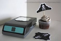 Clever!!! Pirate hat from paper punch.
