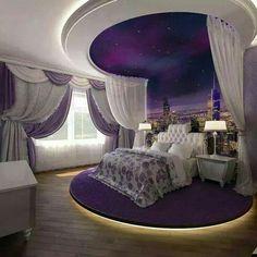 Ložnice  * fialovo bílá - romantický styl ♥