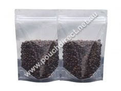 500G CRYSTAL CLEAR - STAND UP POUCH WITH ZIPPER | CLEAR BAGS. Visit us at http://www.pouchdirect.net.au/500g-crystal-clear-stand-up-pouches-with-zipper.html