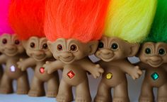 Trolls - What the hell was Giftgate thinking?! From cute and cuddly Sanrio characters, they suddenly introduced these hideous creatures! Why would you want an ugly, naked doll with puffy hair as a toy? Blame it on peer pressure but I had a few of these too. What a waste of money :(