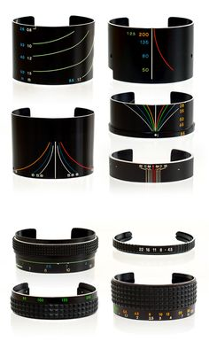 Vintage camera lens bracelets - gift for a photographer