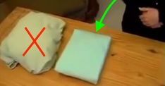 In less than 40 seconds, she perfectly folds a sheet: her easy method is just great!