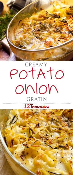 This one is similar to the traditional potato version, but we added Vidalia onions that add a lot more flavor and go fantastically with the potato and creamy, cheesy sauce. If you can slice some veggies and whisk together a quick sauce, you can have one of the best gratins you've ever tasted! #Thanksgiving #ThanksgivingRecipes