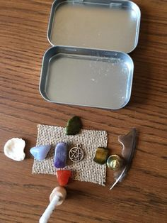 I taught a class this past September on how to make a Travel Altar. You can certainly use whatever items you are drawn to use. Some things to consider are what size of container you want to use to…
