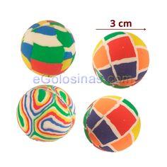 4 pelotas de colores divertidos de goma saltarinas. Miden 3cm de diámetro  aprox. Ideales 0ee6d025e69bf