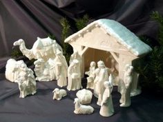 Killer Holland Mold Ceramic Nativity Set and
