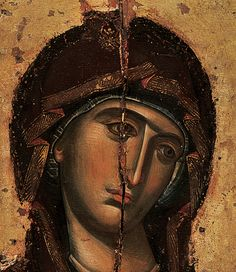 Damaged Icon of the Mother of God
