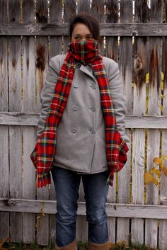 DIY Fleece Scarf with Deep Pockets