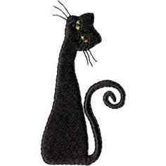 Black Cat--Embroidery Designs From Embroidables.com