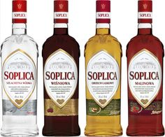 Soplica Wodka and vodka liqueurs - Natural, Cherry, Hazelnut & Raspberry. Polish Recipes, Polish Food, Vodka Drinks, Cocktails, Raspberry Vodka, Poland Travel, Food N, Krakow, Kitchen Art