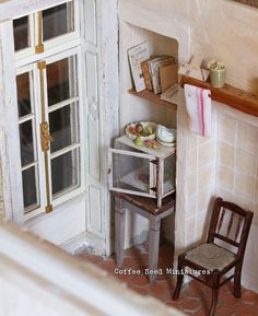 (@coffee.seed.miniatures)のInstagram: 「The garde-manger found its place in my miniature kitchen #miniature #1to12scale #dollhouse…」