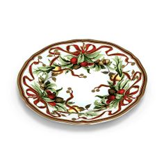 Tiffany Holiday™ dessert plate in porcelain.