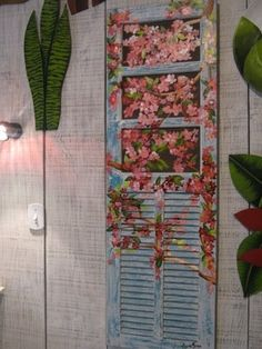 painting on an old shutter