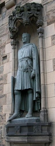 Robert Bruce - Gave the Burnett Clan the Horn of Leys, which hangs above the fireplace at Crathes Castle...