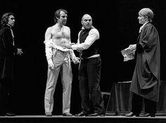 1981 - 'The Merchant of Venice'. Jonathan Hyde as Bassanio; Tom Wilkinson as Antonio; David Suchet as Shylock; Sinead Cusack as Portia.  RSC