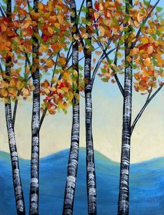 In the Trees ACEO Signed Art Card Print by PaintingPrints