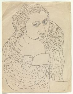 Andy Warhol. Untitled ((Early Work) Woman). (c. 1946)