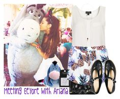 """""""Meeting Eeyore with Ariana"""" by albamonkey ❤ liked on Polyvore featuring Topshop, Disney, Boohoo and ASOS"""