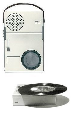Braun TP1 portable record player / radio by Dieter Rams, 1959